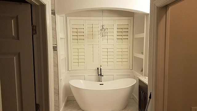 Image of a Bathroom Remodel in Citrus Park - Main Focus is a Fancy Bathtub