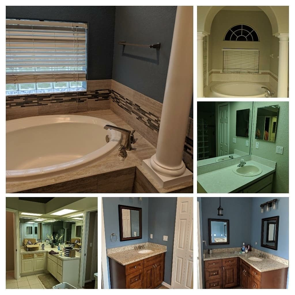 Image of a Bathroom Remodeling Job in New Tampa FL