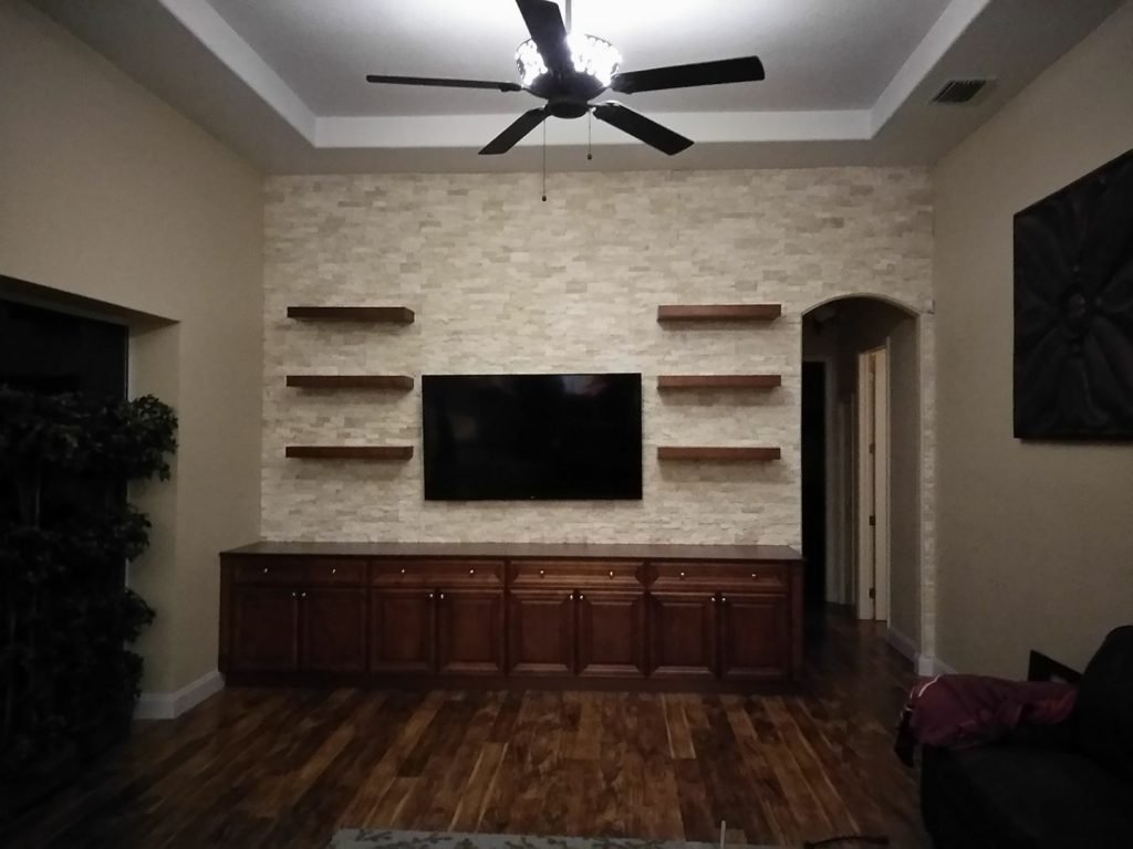 Image of a Custom Entertainment Center Design and Installation in Hillsborough County