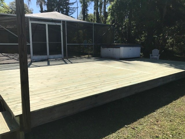 Image of a Deck Refinishing Job in Pasco County