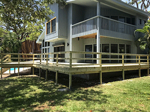 Image of a Deck Built by Lutz Deck Building Contractor Koster Konstruction