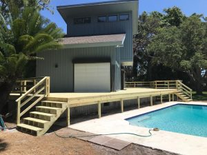 Image of a Deck Refinishing Job in St Petersburg FL
