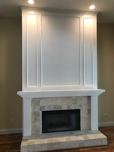Image of a Hillsborough County Fireplace Entertainment Center Design and Installation Job