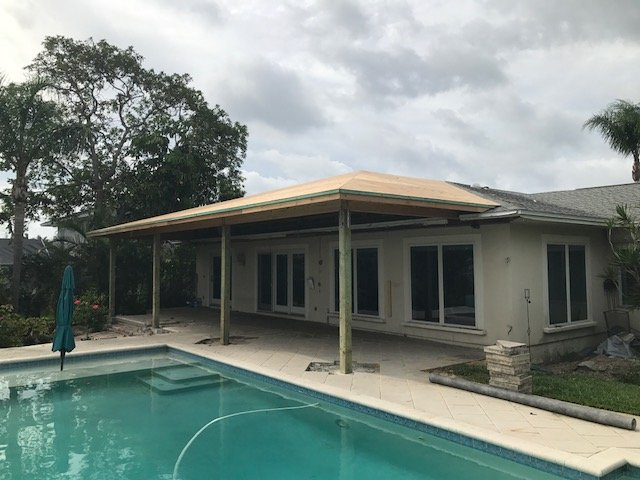 Image of a Clearwater Lanai Extension Job