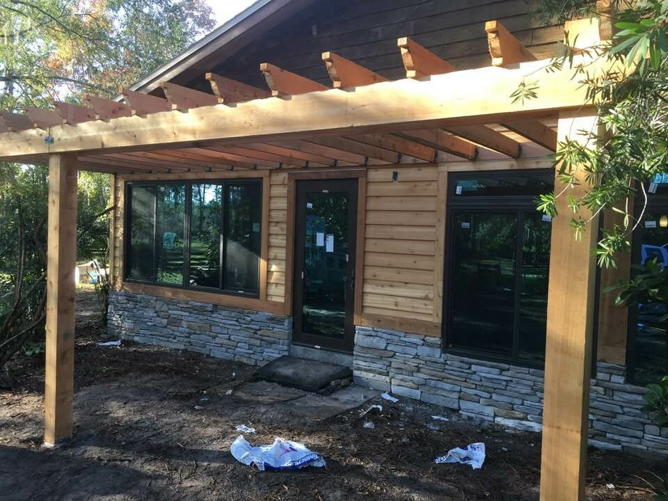 Image of a New Custom Construction Pergula in Pasco County