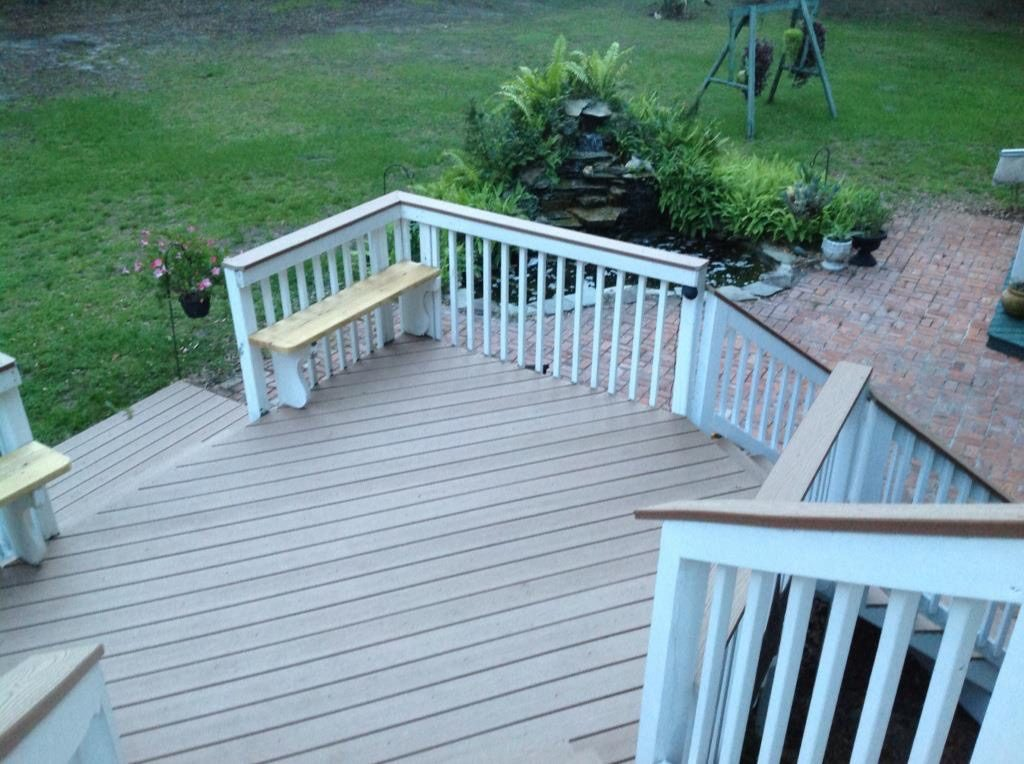 Image of a Completed New Deck Project in Plant City