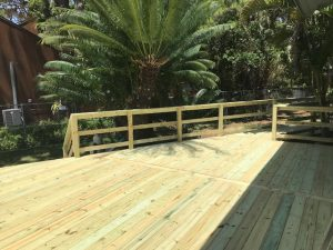 Image of a Completed New Deck Construction Project in St Petersburg FL