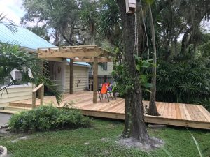 Image of a New Deck Construction Job Completed in Tampa FL