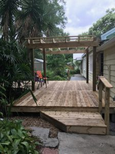 Image of a Completed Tampa New Deck Construction Project