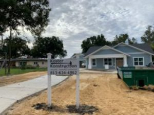 Image of Custom Home Being Built by Koster Konstruction in Lutz FL