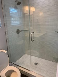 Glassed in Shower in Mother-In-Law Suite Custom Built by Koster Konstruction in Lutz FL